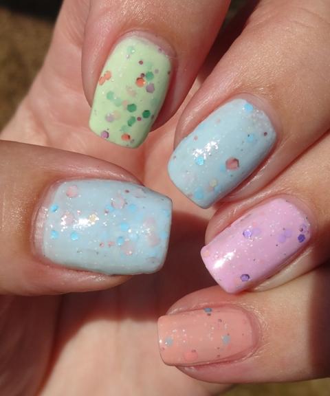 Pink And Blue Glitter Nail Polish: Wendy's Delights: Born Pretty Store 4 Piece Sparkle Yogurt