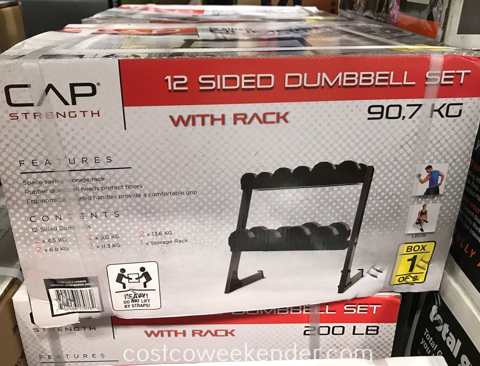 Start your home gym today with the CAP 12 Sided Dumbbell Set with Rack