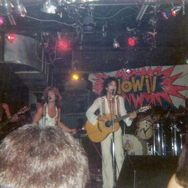 Wowii on stage at CBGB's 1977/1978