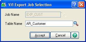 Export data from Sage 100 ERP using Visual Integrator Job – Sage 100