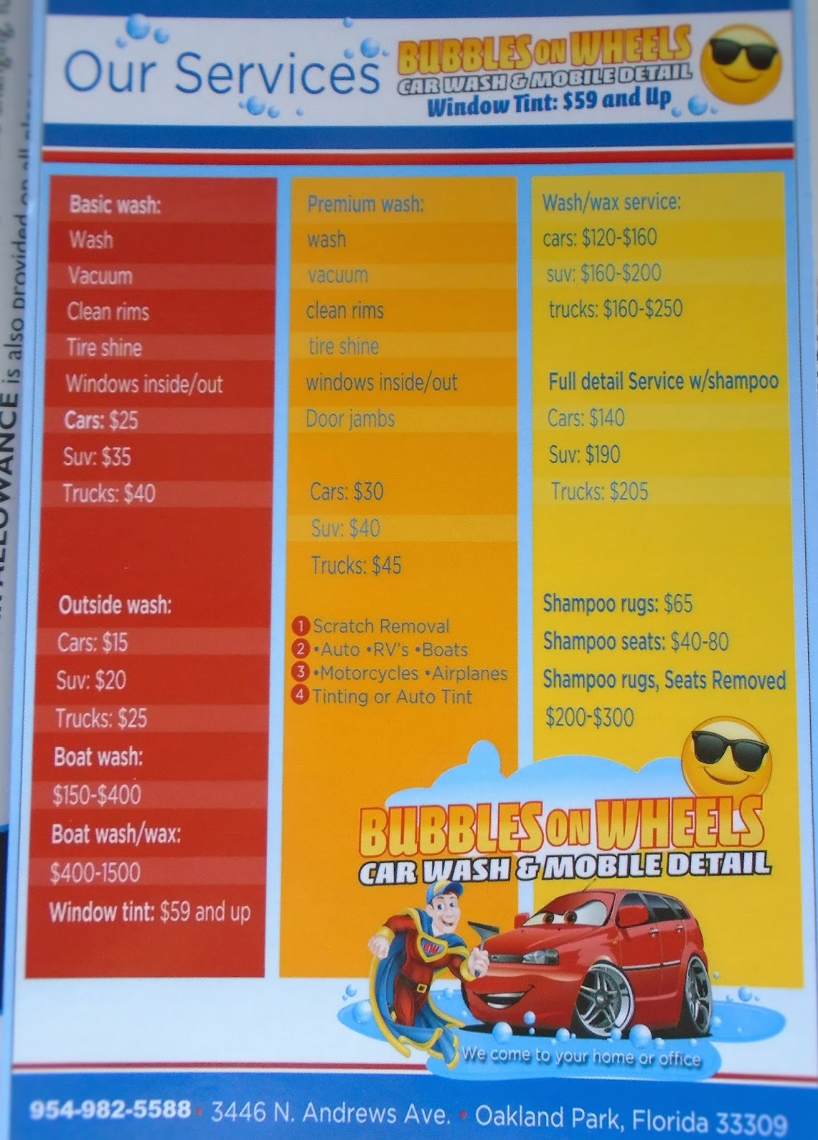 Car Wash Mobile Prices