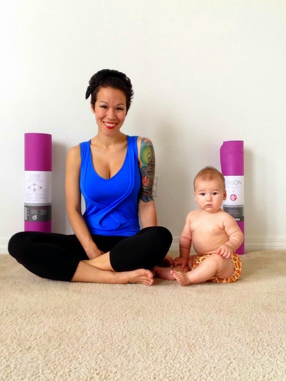 Diary Of A Fit Mommy Manduka Liveon Mommy Amp Me Yoga Mat