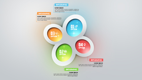 Make Infographic Modern Colorful Option Number In Photoshop