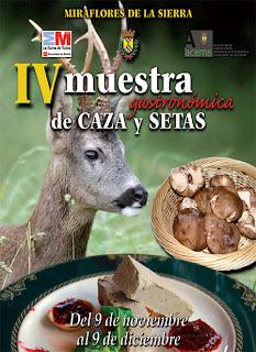 VI Muestra gastronómica de Caza y Setas en Miraflores de la Sierra
