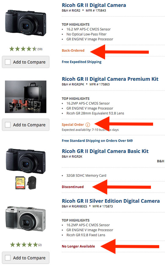 Ricoh GR II исчезает из продажи