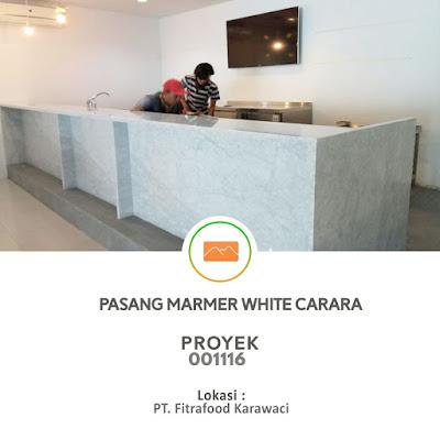 proyek pemasangan granit meja bar