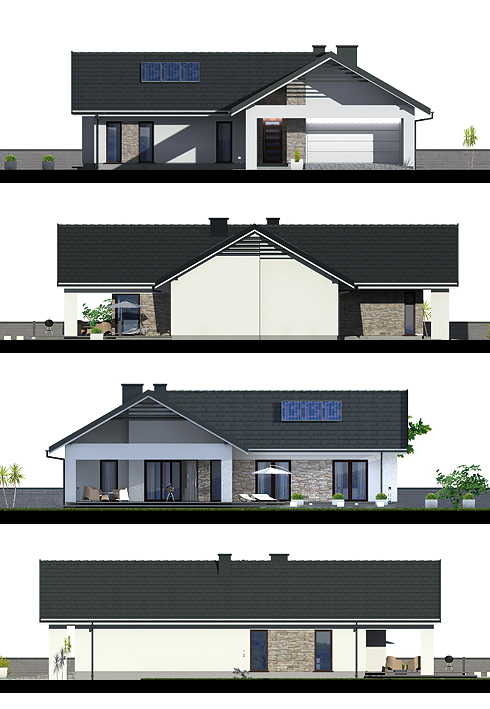 """Bungalow houses are a smaller version of the popular crafts person style. They're commonly square in floor plan or deeper than they are wide, making them perfect for small urban lots. Bungalow houses are also perfect for empty settlers, with bedrooms and living space all on one level.  Take a look at this free house floor plan for your reference and ideas.  """"Advertisements""""    HOUSE FLOOR PLAN 1         Specifications: Beds: 2 Baths: 1 Floor Area: 96 sq.m. Lot Size: 227 sq.m. Garage: 1  Source: pinoyhouseplans.com   HOUSE FLOOR PLAN 2                ELEVATIONS:          GENERAL INFORMATION: building area 184.1 m² usable area 114.8 m² surface of all rooms 148.9 m² building volume 923 m³ volume of heated rooms 394 m³ height of the building 6.19 m Angle of inclination of the roof thirty minimum dimensions of the plot 24.65m x 25.08m  Source: projektydp.pl  """"Advertisements""""  HOUSE FLOOR PLAN 3             High rise house 5 bedrooms 2 bathrooms No parking Total living space 160.00 sq.m. Building width 12.00 m. Depth building 16.00 m Number of pillar 28  HOUSE FLOOR PLAN 4               Single storey house  2 bedrooms  1 bathroom  No parking Total living space 98.00 sq.m. 7m wide building Building depth of 14.00 m.  Source: http://www.thaidrawing.com    """"Sponsored Links""""               GENERAL INFORMATION:  Building area 198 m² Usable area 164.1 m² Surface of all rooms 284.3 m² Building volume 1140 m³ Volume of heated rooms 627.1 m³ Height of the building 7.13 m Angle of inclination of the roof 35 ° Minimum dimensions of the plot 23,45m x 23,65m  TECHNOLOGY: External walls ceramic hollow + styrofoam (silicates, aerated concrete) Ceiling reinforced concrete slab Heating gas boiler or solid fuel Roof Ceramic or cement tile or metal roof tile  SOURCE: http://projektydp.pl  RELATED POSTS:   Single Story Modern House Plan Build On 99.44 Square Meters Above  Are you looking for the best modern house plans in which to live a modern life? Choosing a home can be an intimidating tas"""