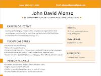 Contoh CV Fresh Graduate Tanpa Pengalaman Yang Menarik