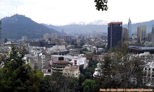 Cidade de Santiago vista do Cerro Santa Lúcia