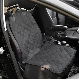 Amzdeal® Waterproof Pet Bucket Seat Cover Dog Car Front Seat Cover Single Seat Cover for Dog Pet Seat Protector (Black)
