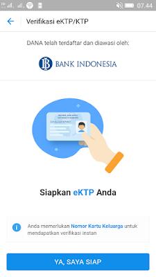 cara verifikasi akun aplikasi dana android