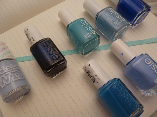Blue Essie Nail Polishes