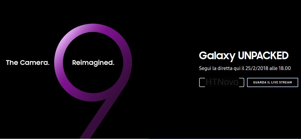 Diretta Streaming Presentazione Ufficiale Samsung Galaxy S9 e S9 Plus