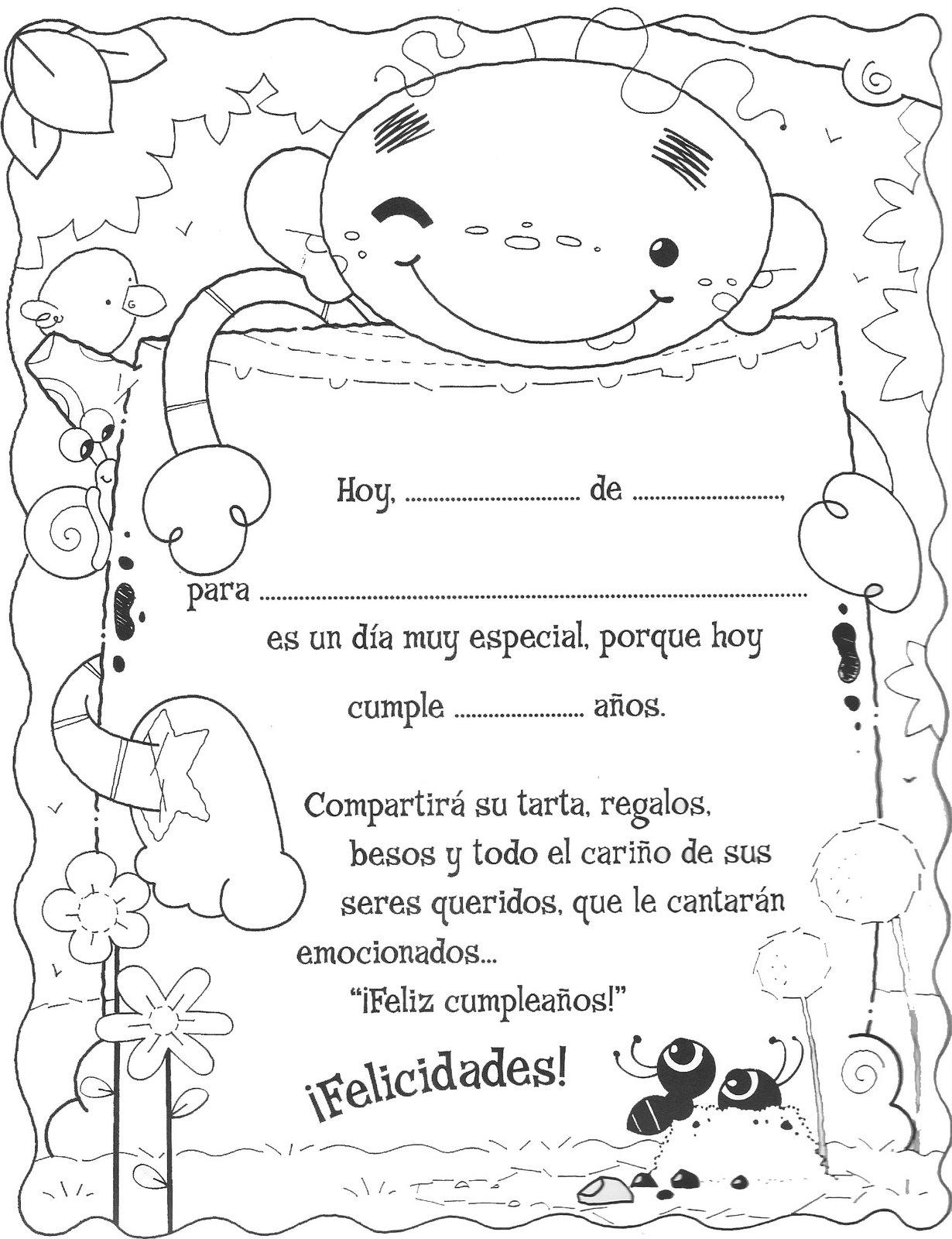 Menta m s chocolate recursos y actividades para - Felicitaciones cumpleanos infantiles ...