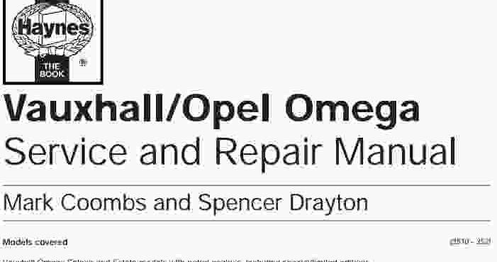 Opel Omega Service Manual