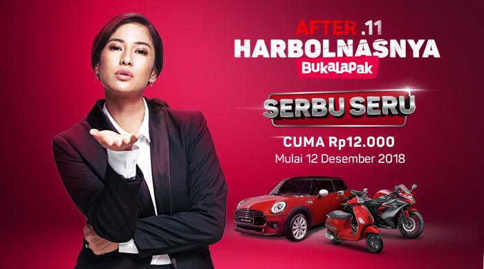 Bukalapak - Promo Serbu Seru Mobil & Motor Cuma 12 Ribuan (s.d 15 Des 2018)
