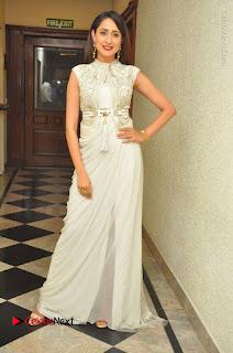 Actress Pragya Jaiswal Stills in Beautiful White Dress at turodu Audio Launch  0064.JPG