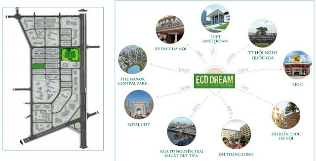 Vị trí liên kết vùng Eco Dream
