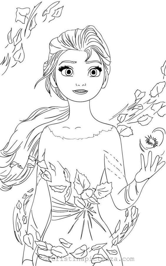 Tranh tô màu Elsa 12