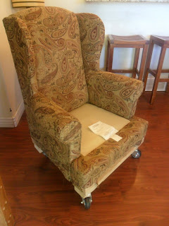 Floral Wingback Chair With Boxpleat Skirt And Out Of Town