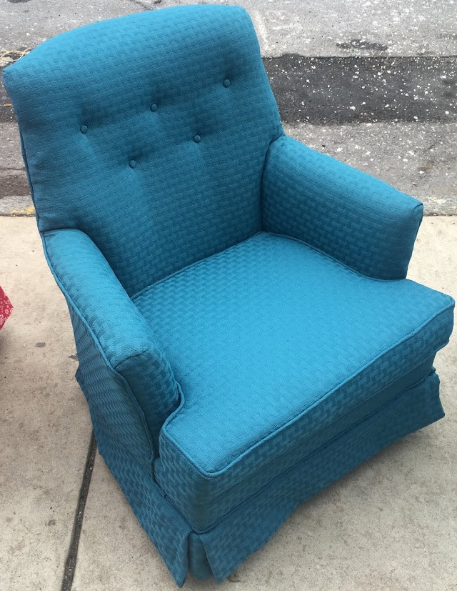 Skirted Armchair with Tufted Back - $75