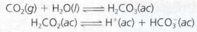 descomposición del ácido carbónico en el estómago