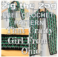 Zig the Zag Free Crochet Scarf Pattern From That Crafty Girl From Ohio