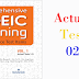 Listening Comprehensive TOEIC Training - Actual Test 02