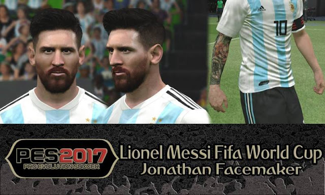 Lionel Messi Fifa World Cup Face PES 2017
