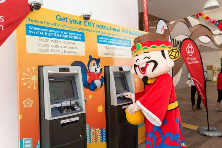 Ms Susan Cheong, head of POSB, said: 'We work closely with the People's Association and considered a number of factors like convenience, traffic, space and security before deciding on the locations of these ATMs.'