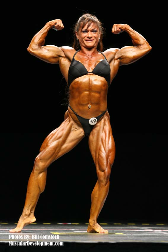 Female Bodybuilder Claudia Partenza - 2007 IFBB Atlantic City Pro - 11th Place lightweight