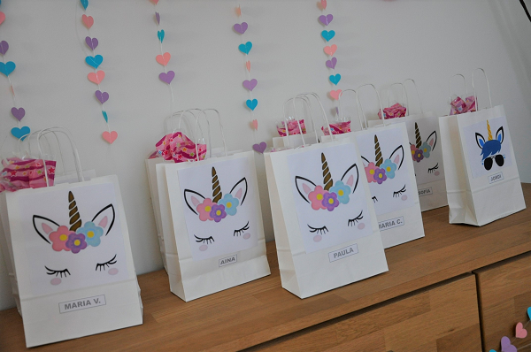 bolsas sopresa fiesta infantil unicornio