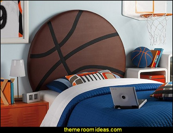 Basketball Headboards  basketball bedroom ideas - Basketball Decor - basketball wall murals - basketball bedding - basketball wall decal stickers - basketball themed bedrooms - basketball bedroom furniture - basketball wall decorations - Basketball wall art - Basketball themed rooms - basketball bedroom furniture - NBA bedding - Boys basketball theme