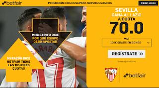 betfair supercuota Sevilla gana Lazio 20 febrero 2019