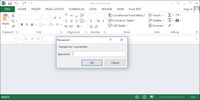 open document with password to access in excel