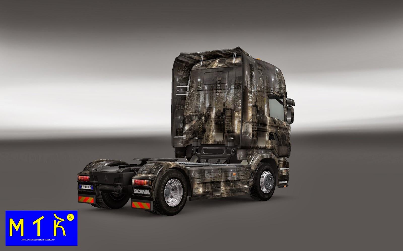 Skin - Cenário de Cidade Scania Para V.1.9.X By: Maryva ...