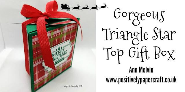 #stampin up demonstrator Star top gift box tutorial