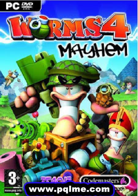 تنزيل لعبة Worms 4 Mayhem للكمبيوتر