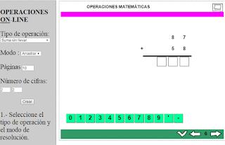 GENERADOR DE OPERACIONES ON-LINE