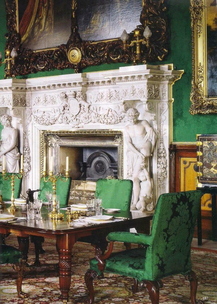 Downton Abbey Drawing Room: Nicolas De Pompadour: The Green Room