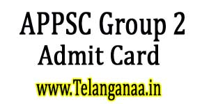 APPSC Group 2 Screening Test Admit Card 2017