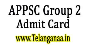 APPSC Group 2 Screening Test Admit Card