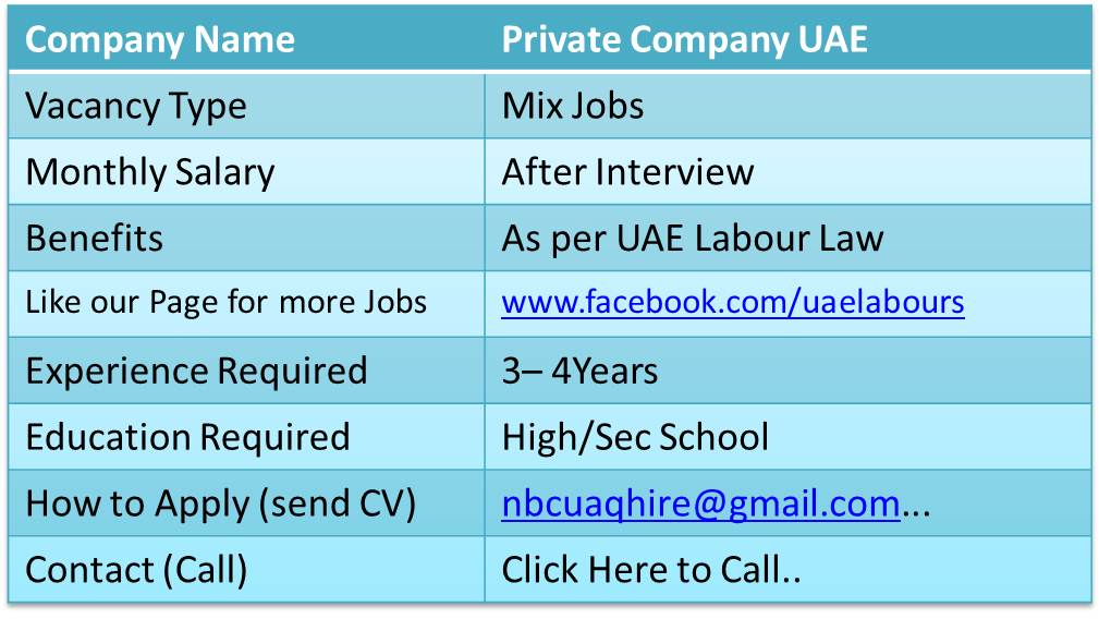 jobs in uae for freshers