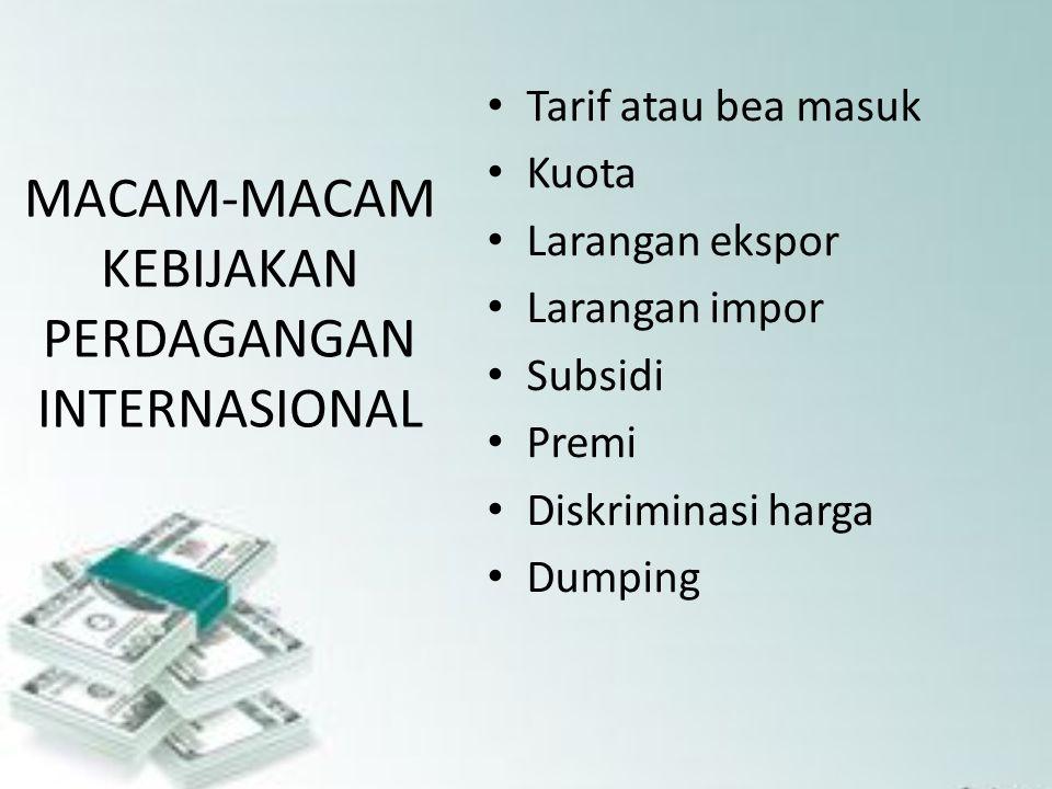 Macam-Macam Kebijakan Perdagangan Internasional - Definisi ...