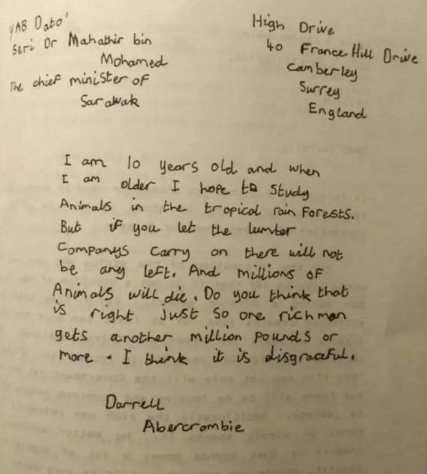Surat Budak England Kepada Tun Mahathir Pada 1987