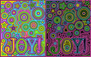 Joy coloring page example