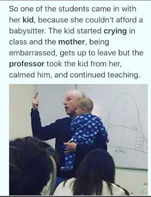 Wow! See What A Professor Did For A Lady With A Crying Baby In His Class