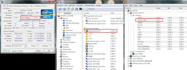 monitor voltaje VCC Vcore