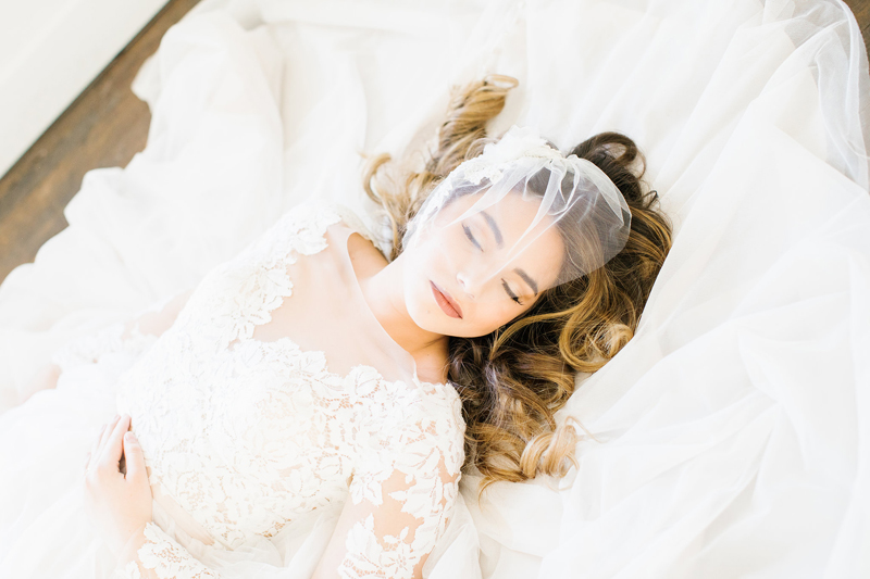 lace wedding gown, two piece wedding dress, wedding makeup