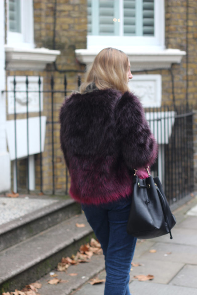 ombre fur coat 2016 fashion blog